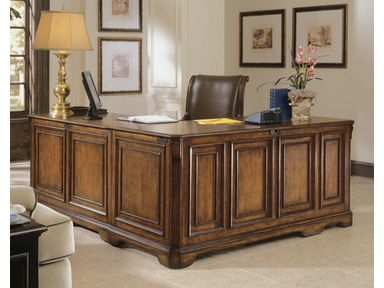 Hooker furniture home office brookhaven executive l right return 281 10 453 west coast living - Home office furniture orange county ca ...