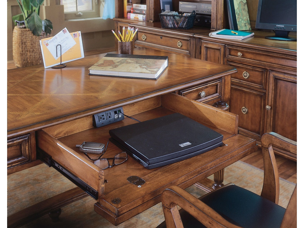 Hooker furniture home office brookhaven leg desk 281 10 for Furniture today