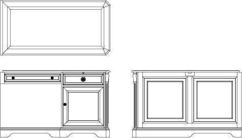 Hooker Furniture Home Office Brookhaven Right Pedestal Return