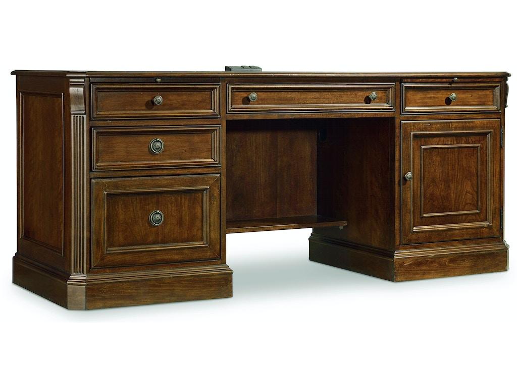 Hooker Furniture Home Office Brookhaven Computer Credenza 281 10 564 Schmitt Furniture Company