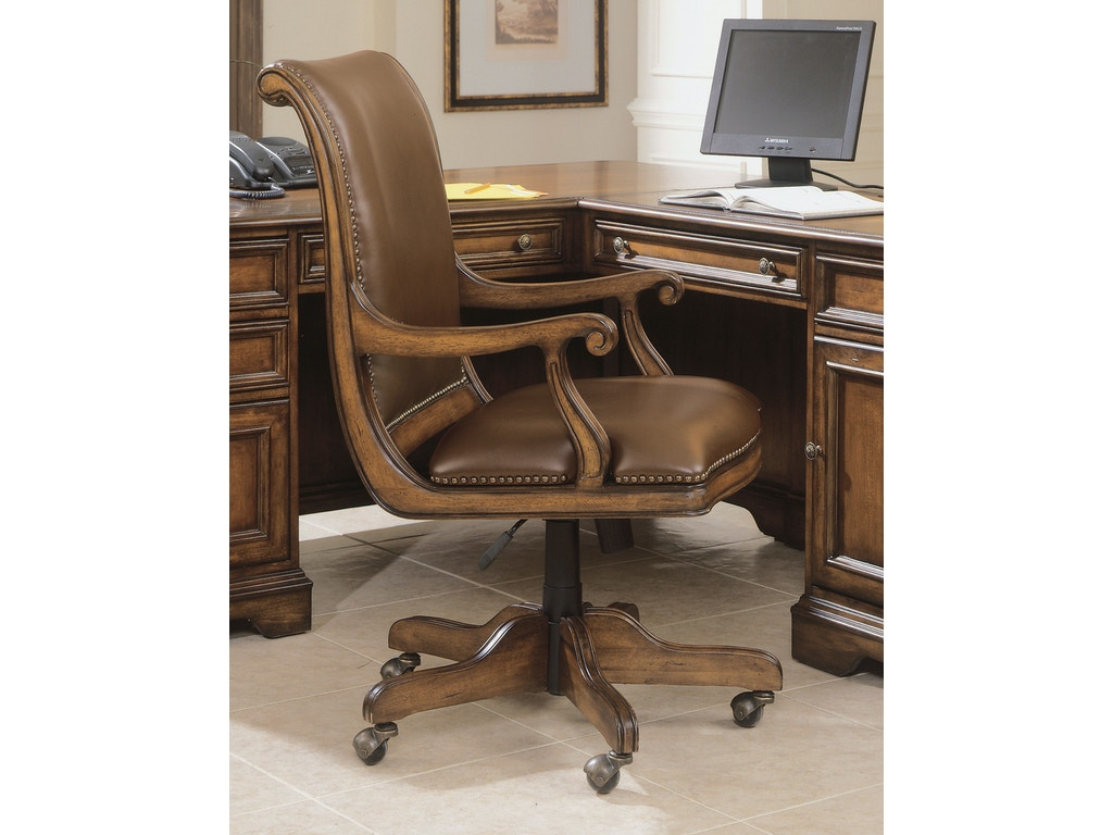 Hooker furniture home office brookhaven desk chair 281 30 220 woodbridge interiors san diego ca - Hooker home office furniture ...