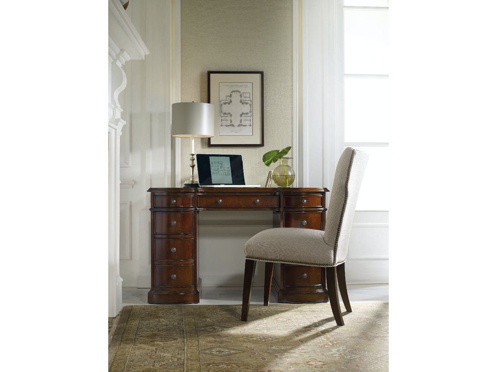 hooker furniture home office cherry knee hole desk bow