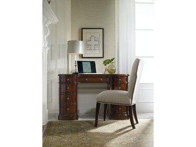 Hooker Furniture Cherry Knee-Hole Desk-Bow Front 299-10-301