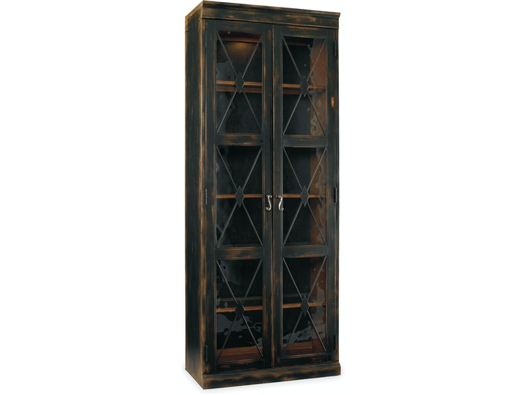 Hooker Furniture Dining Room Two-Door Thin Display Cabinet 502043 ...
