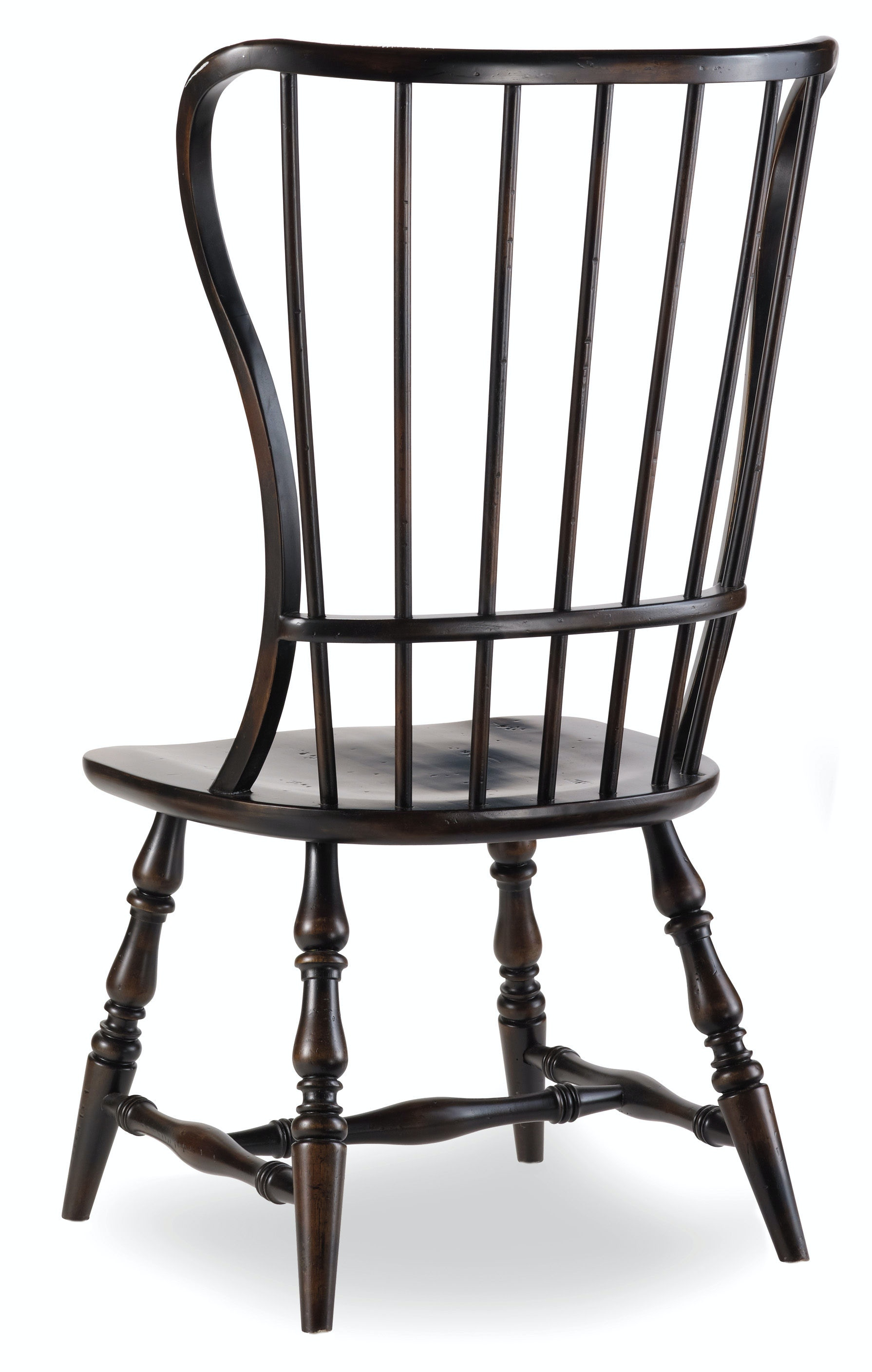 Hooker Furniture Sanctuary Spindle Side Chair-Ebony 3005-75310