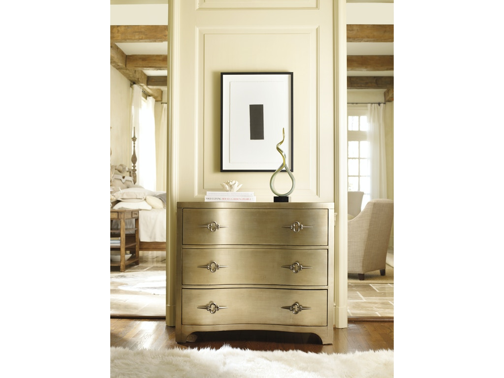 Hooker furniture living room sanctuary three drawer shaped for Front room furniture