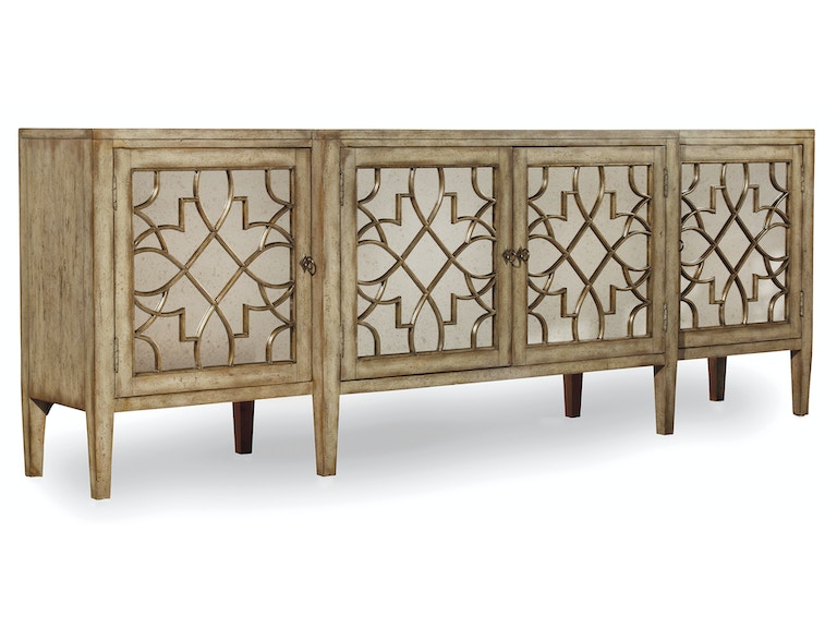 Hooker Furniture Sanctuary Four-Door Mirrored Console - Surf-Visage 3013-85001
