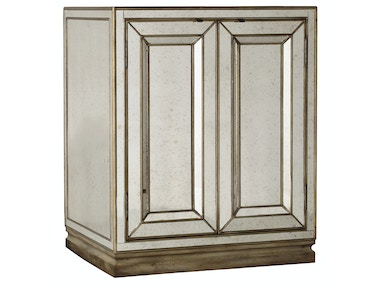 Hooker Furniture Sanctuary Two-Door Mirrored Nightstand - Visage 3014-90015