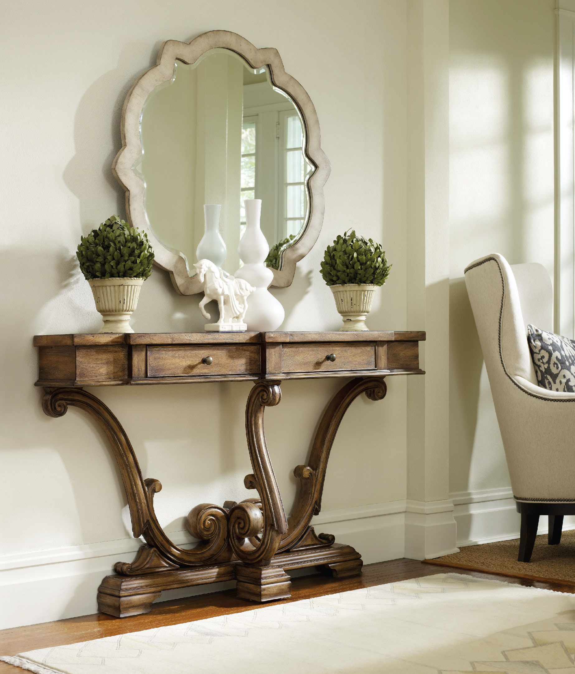 Hooker Furniture Sanctuary Thin Console Amber Sands 3022 85001