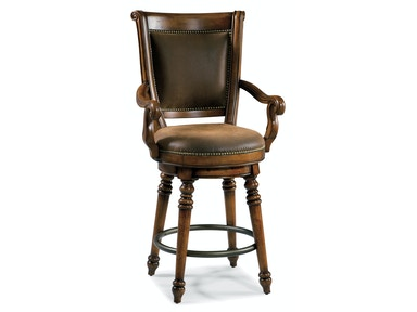 Hooker Furniture Waverly Place Return Memory Swivel Counter Stool 366-75-550