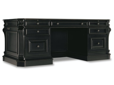 "Hooker Furniture Telluride 76"" Executive Desk w/Leather Panels 516377"
