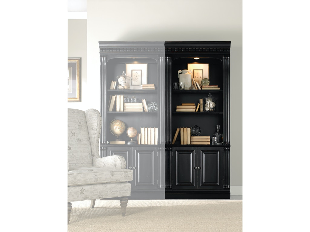 Hooker Furniture Home Office Telluride Bunching Bookcase W Doors 370 10 446 Hatch Furniture