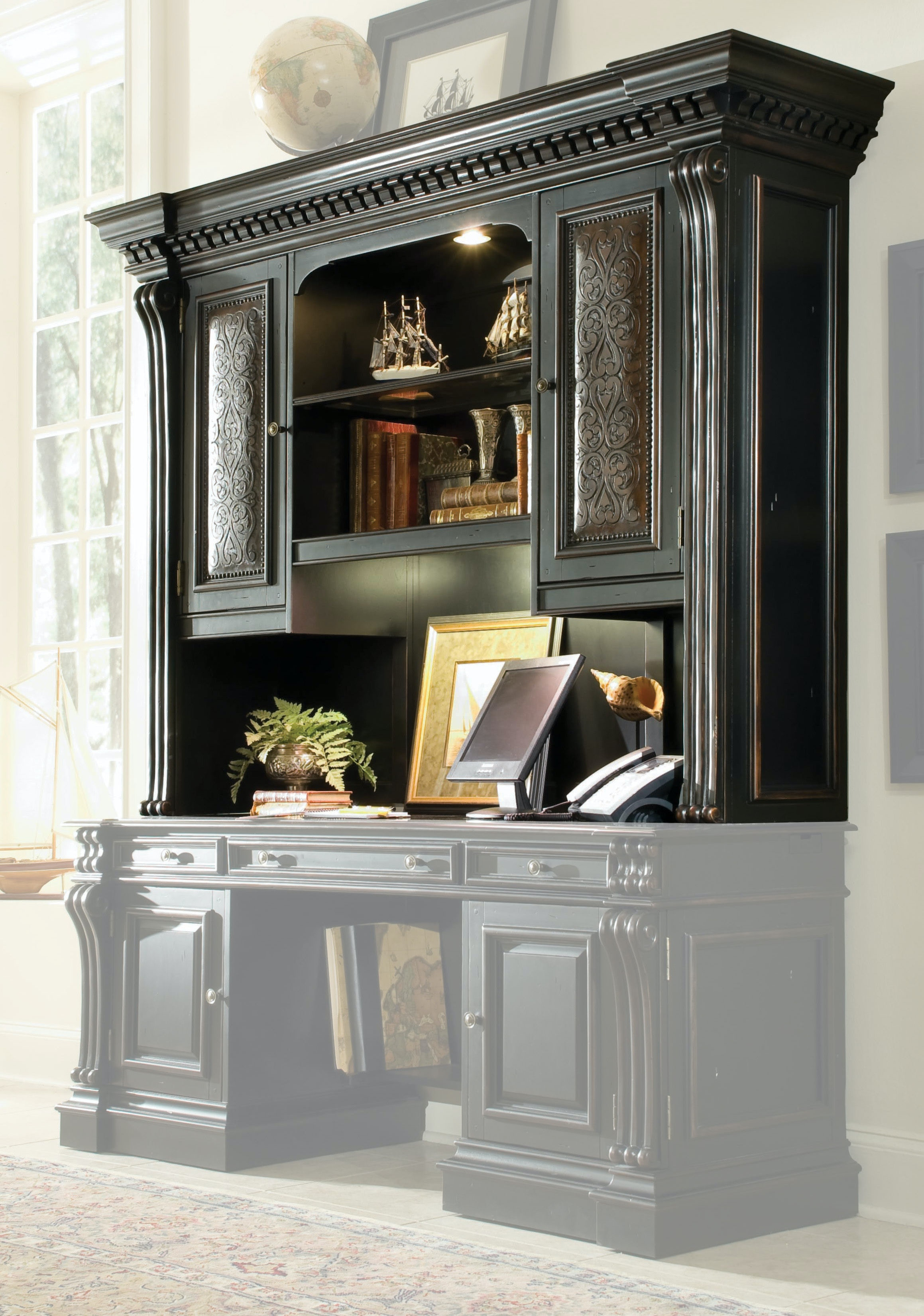 Hooker Furniture Telluride Computer Credenza Hutch 370 10 467