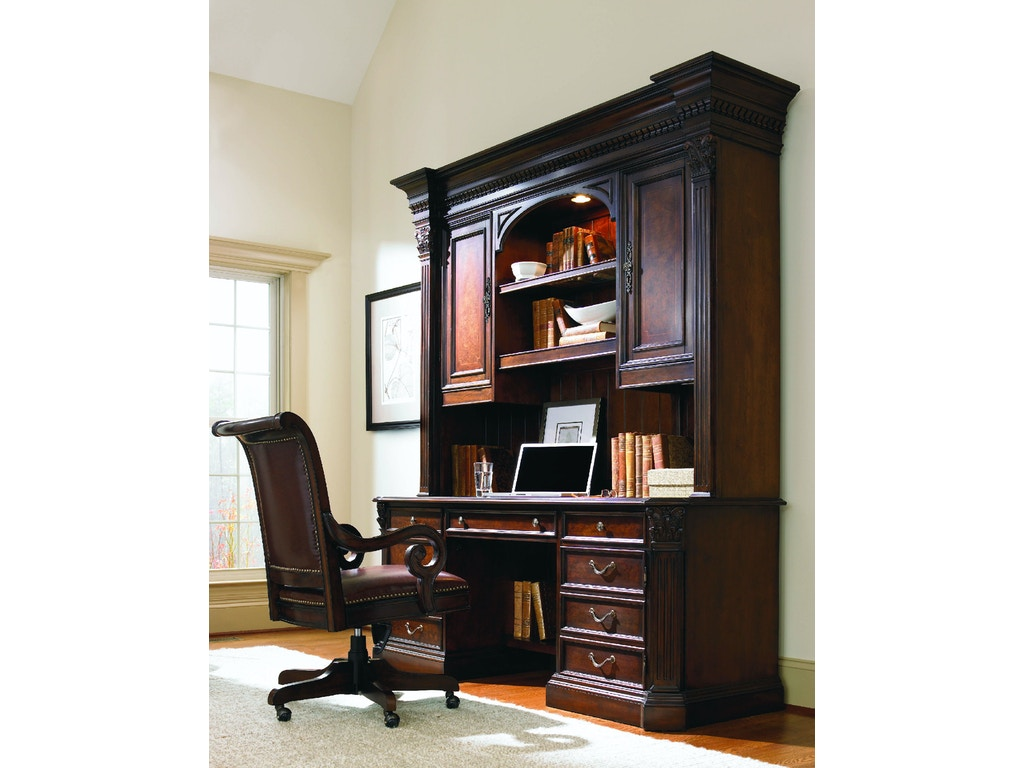 Hooker furniture home office european renaissance ii computer credenza hutch 374 10 467 union - Hooker home office furniture ...
