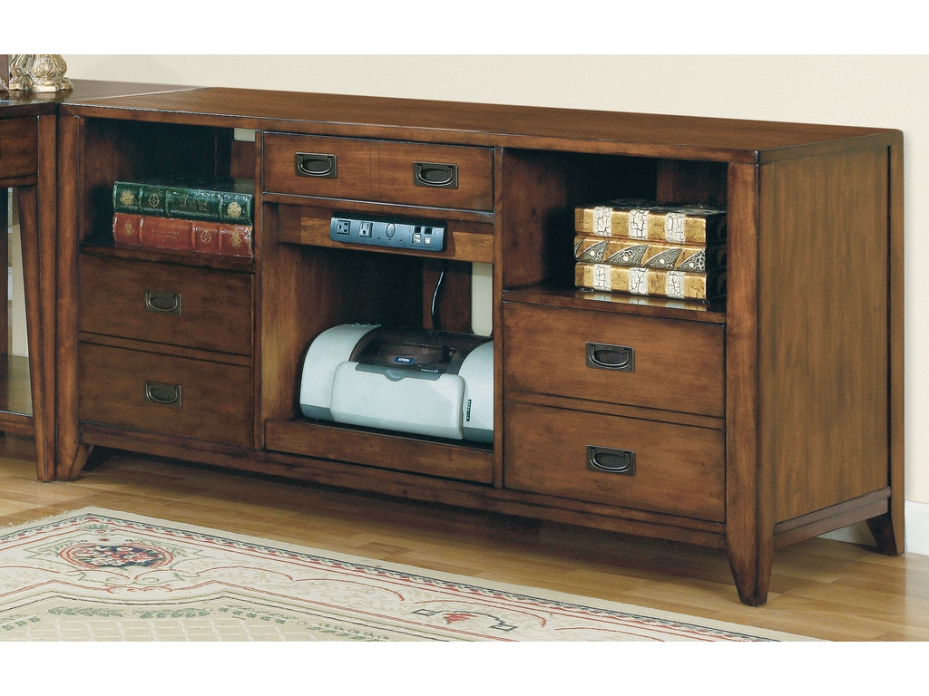 Hooker furniture home office danforth open credenza 388 10 for Furniture today