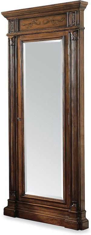 Hooker Furniture Accessories Floor Mirror w/Jewelry Armoire Storage ...
