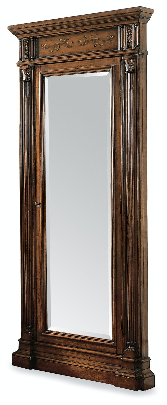 Hooker Furniture Floor Mirror W/Jewelry Armoire Storage 500 50 558