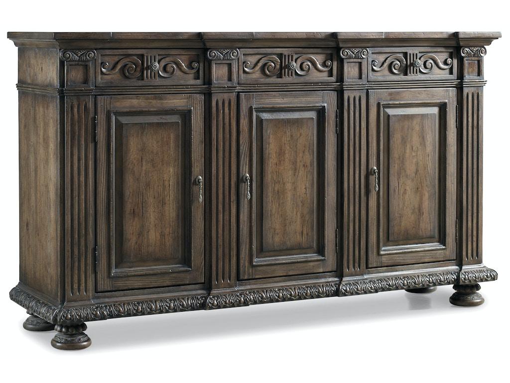 hooker furniture living room rhapsody 72 credenza 5070 85001. Black Bedroom Furniture Sets. Home Design Ideas