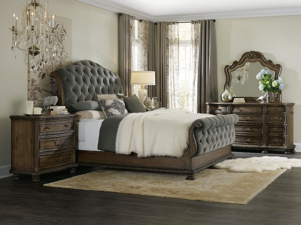 Hooker Furniture Bedroom Rhapsody King Tufted Bed 5070