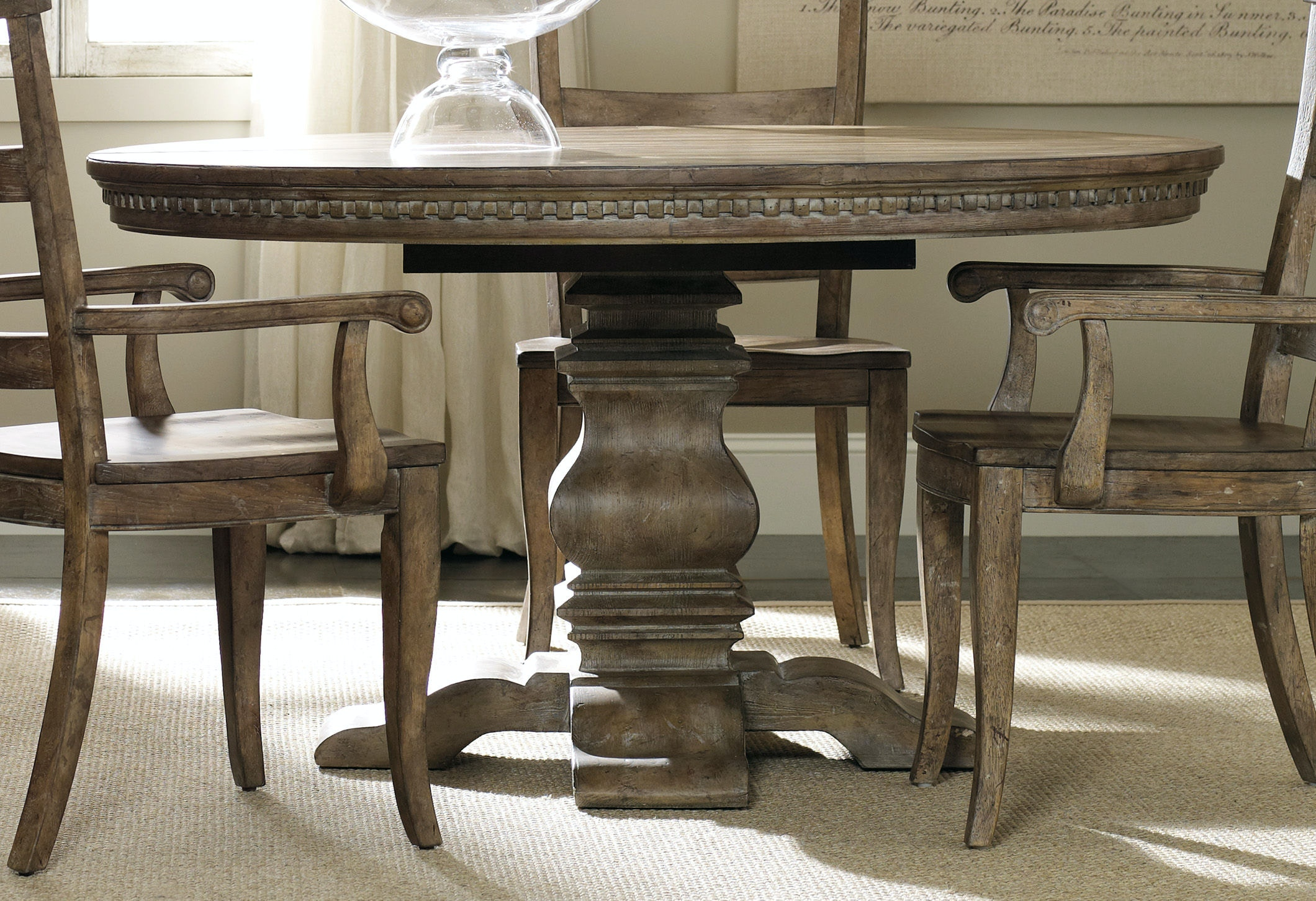 Dining Room Chairs Kansas City hooker furniture dining room sorella pedestal dining table w/1-20