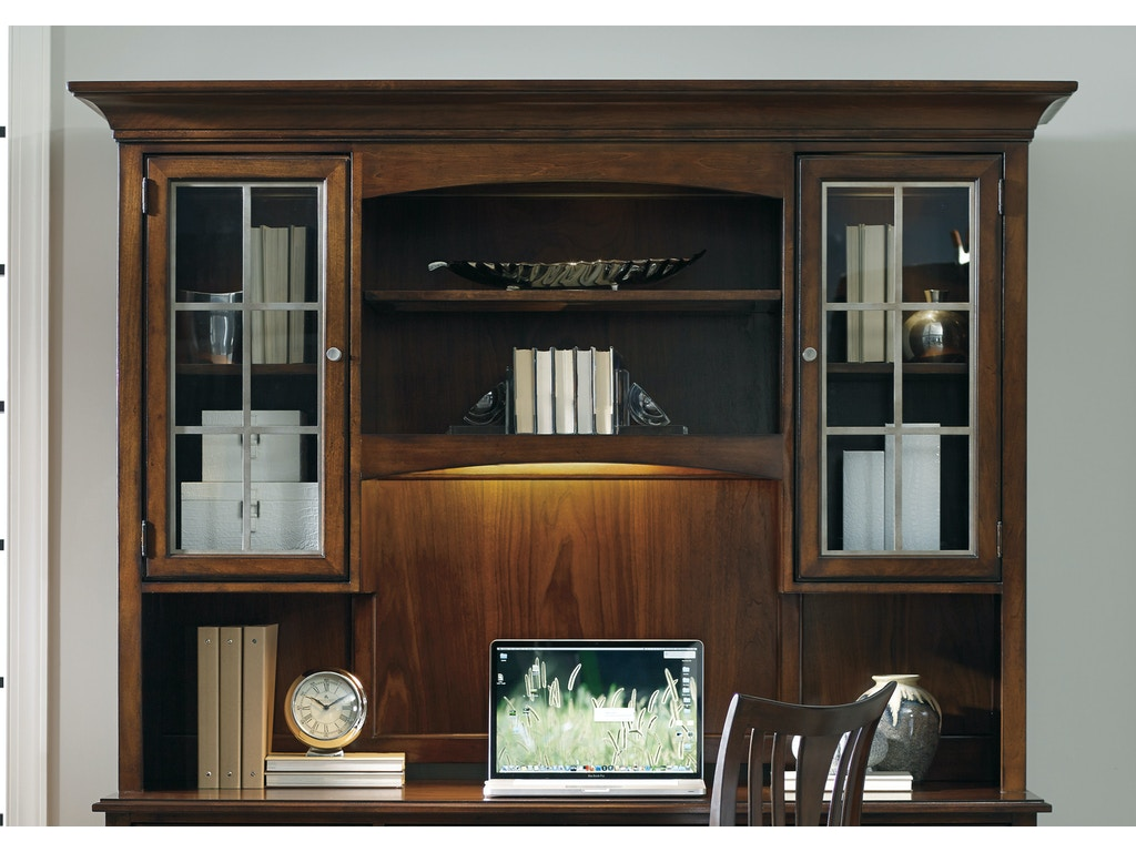 Hooker Furniture Home Office Latitude Computer CredenzaDesk Hutch