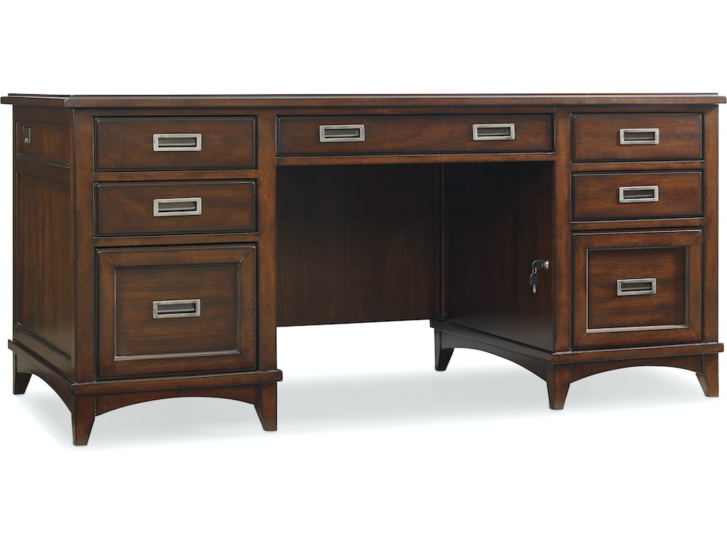 Hooker furniture home office latitude executive desk 5167 10562 drury 39 s inc fountain mn - Hooker home office furniture ...
