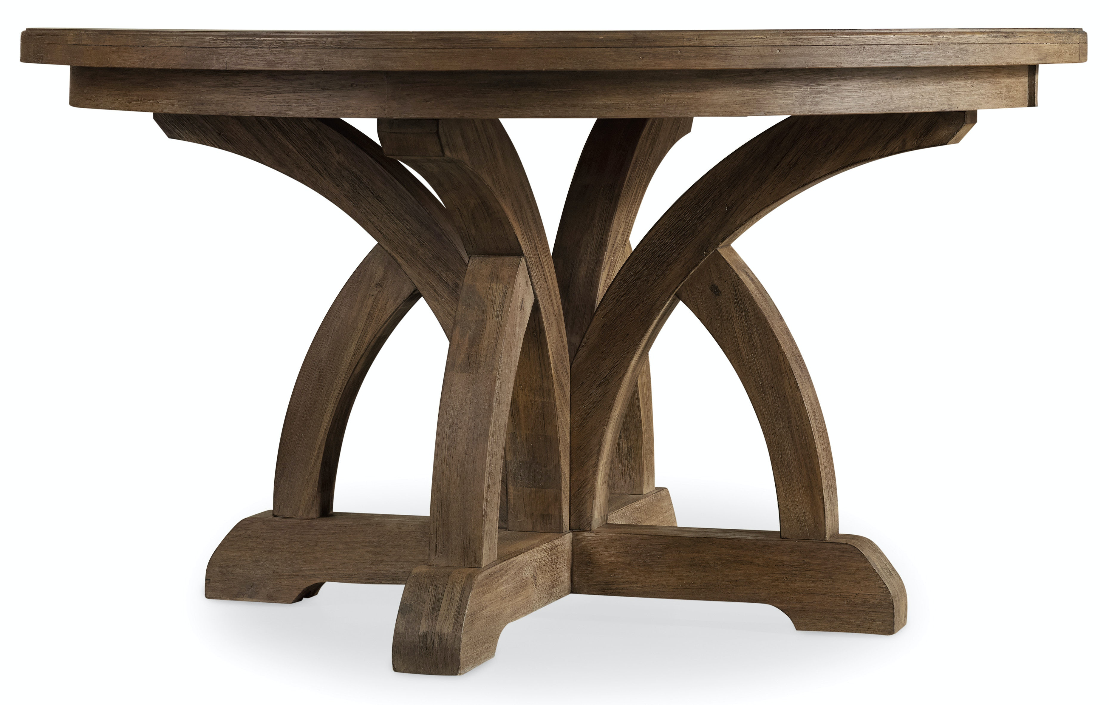 hooker furniture dining room corsica round dining table w 1 18in leaf 5180 75203. Black Bedroom Furniture Sets. Home Design Ideas