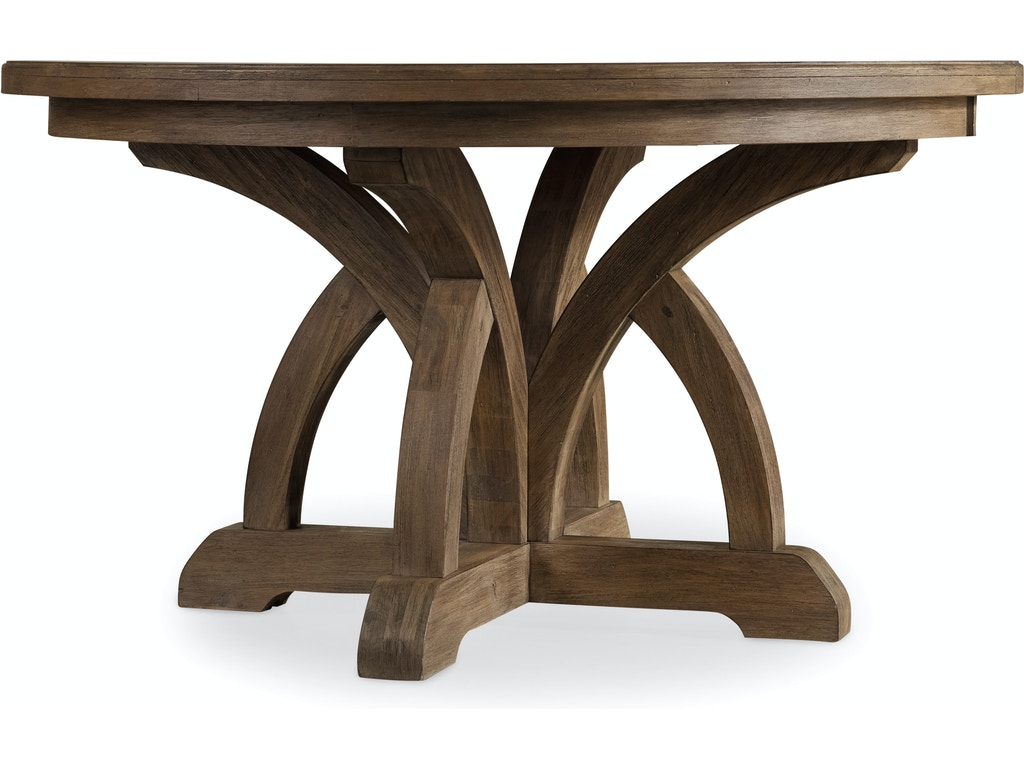 Hooker Furniture Dining Room Corsica Round Dining Table W 1 18in Leaf 5180 75203 Moores Fine