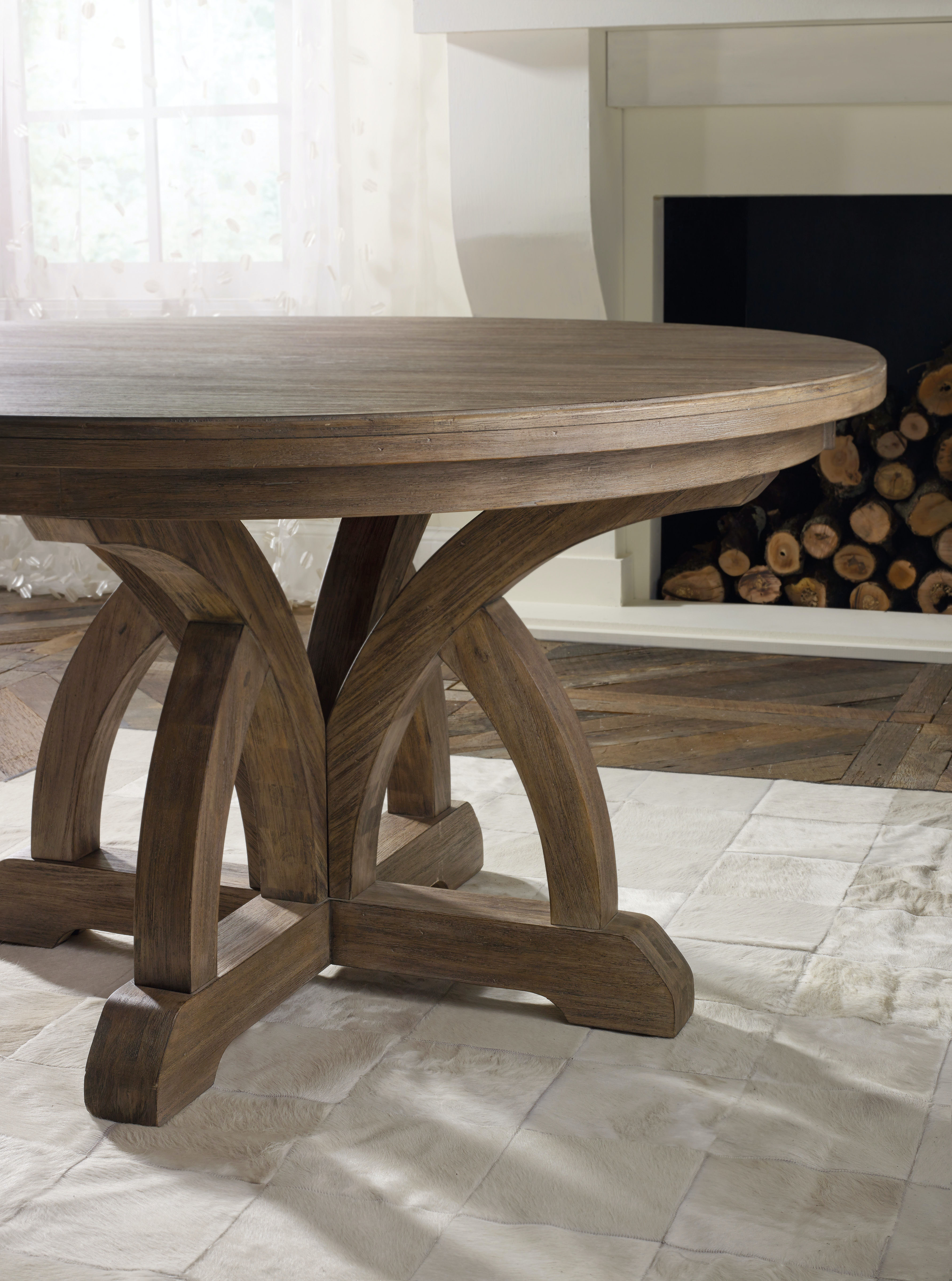 Hooker Furniture Dining Room Corsica Round Dining Table W 1 18in Leaf 5180 75203 High Point