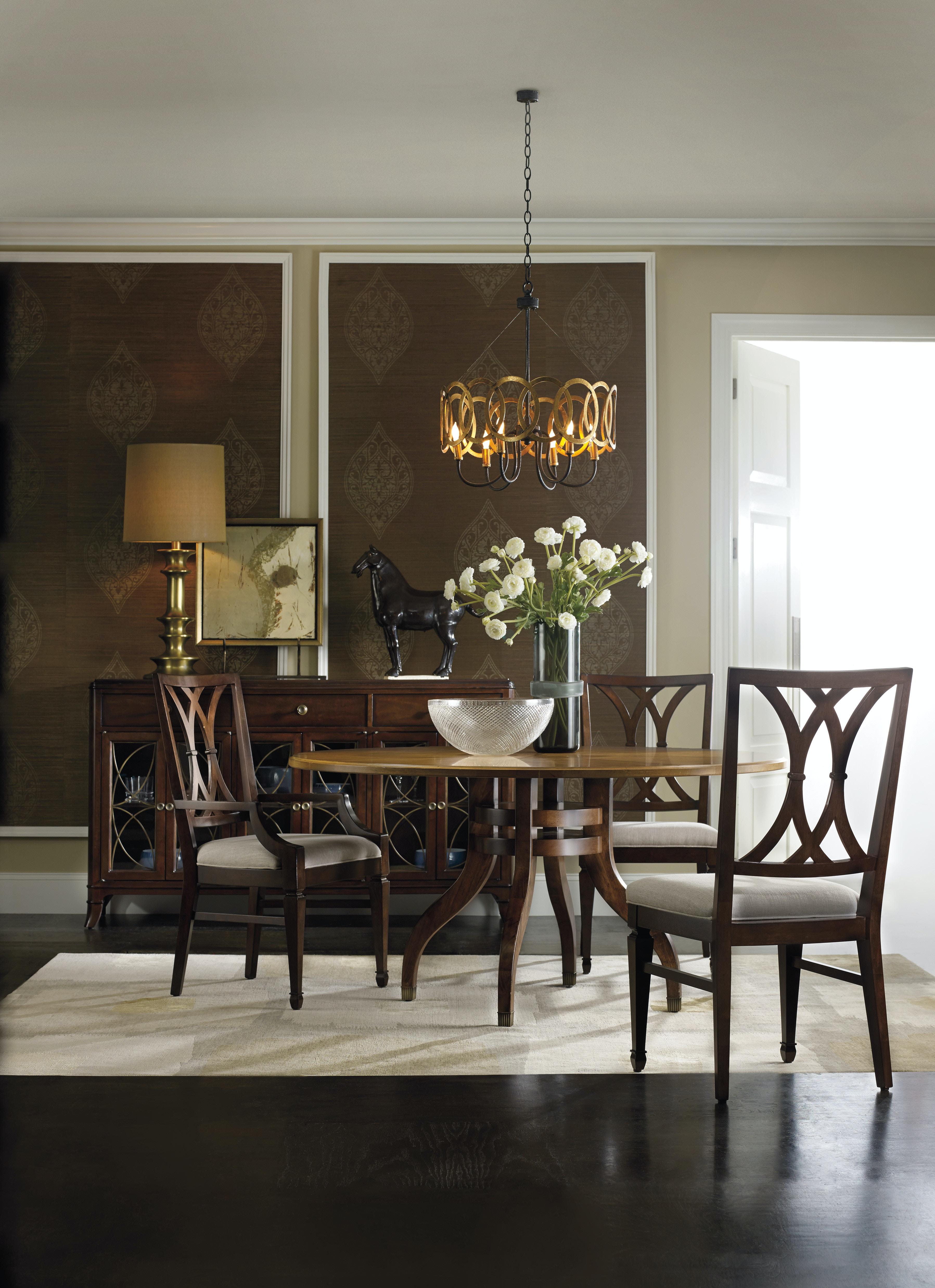 Hooker Furniture Dining Room Palisade Splat Back Arm Chair 5183 75300 West