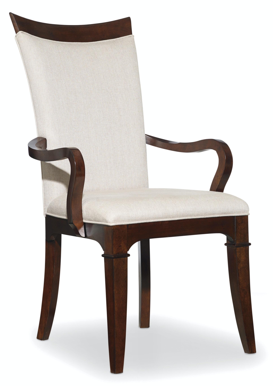 Hooker furniture dining room palisade upholstered arm for Upholstered arm dining chairs