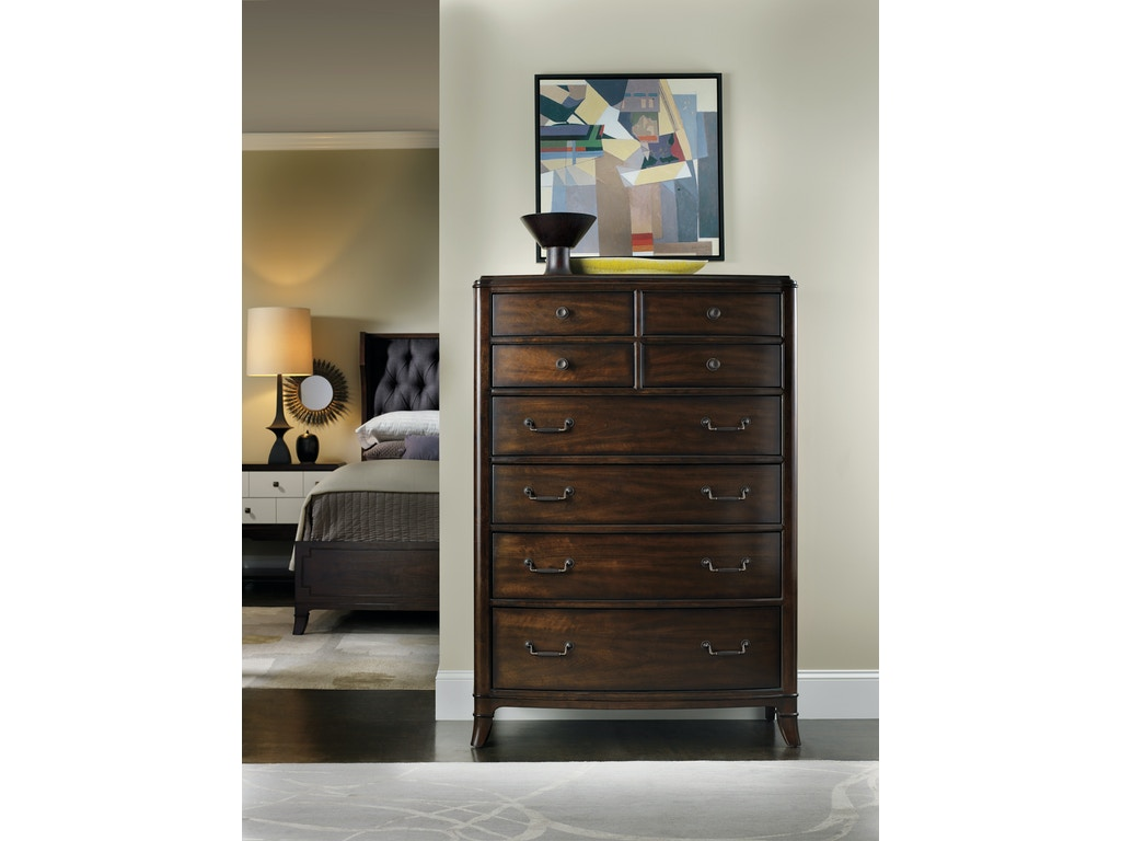 Hooker furniture bedroom palisade eight drawer chest 5183 for Bedroom furniture greensboro nc