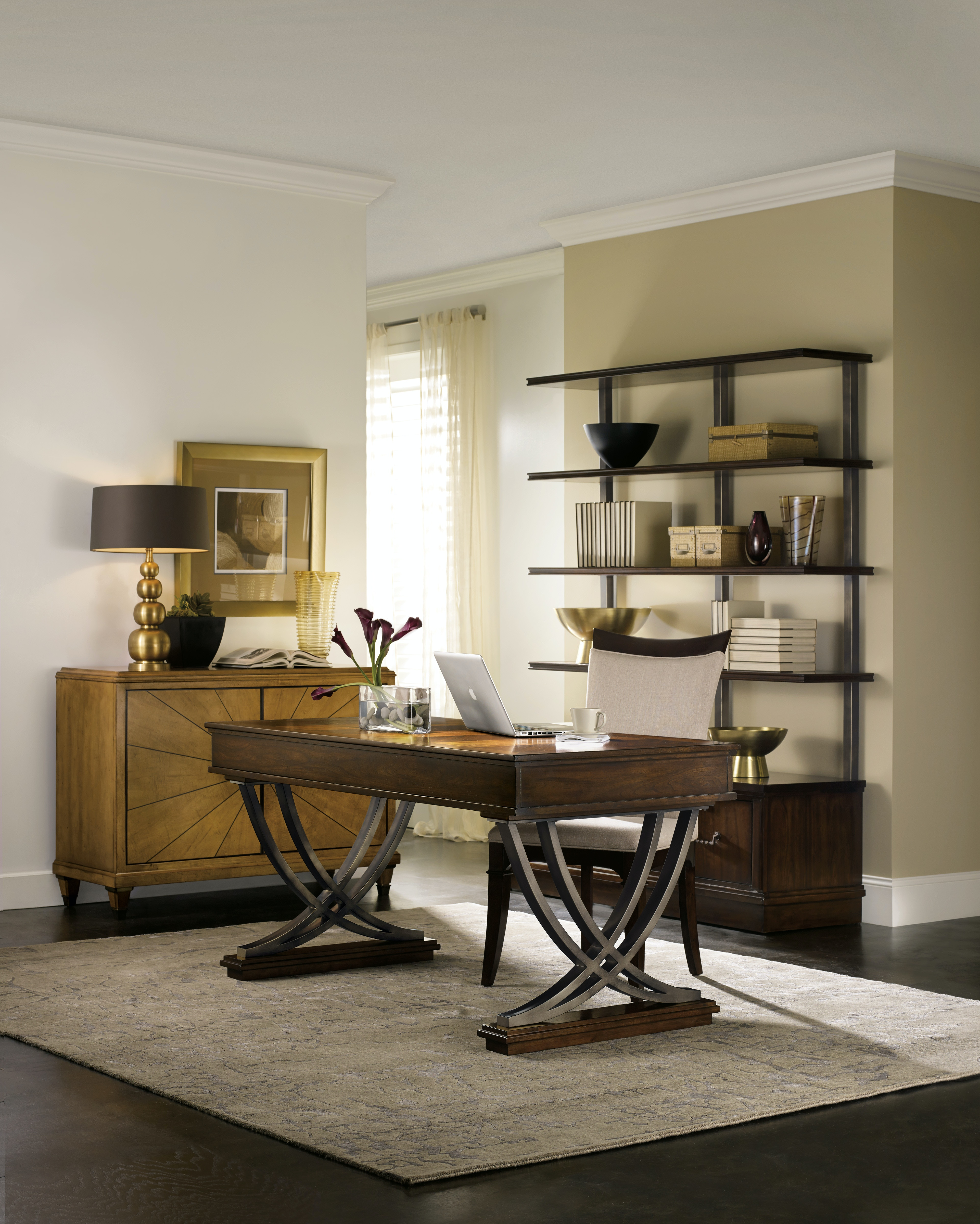 hooker furniture home office palisade bookcase 5183 10446