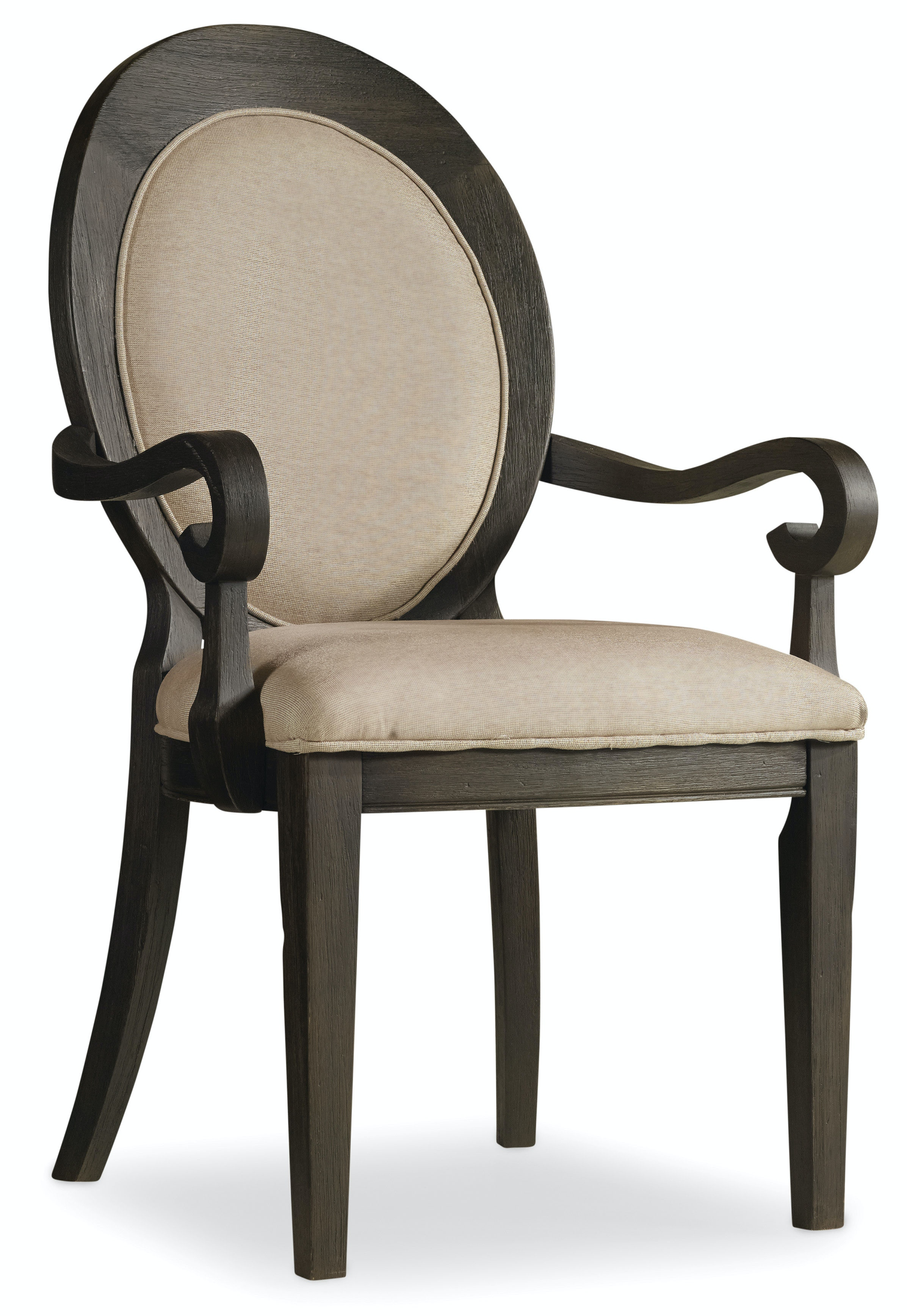 Hooker Furniture Corsica Dark Oval Back Arm Chair 5280-75402