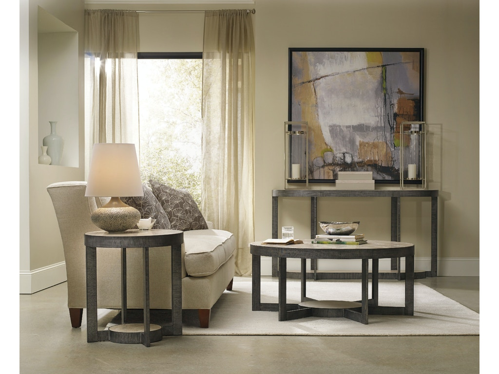 hooker furniture living room mill valley round end table. Black Bedroom Furniture Sets. Home Design Ideas