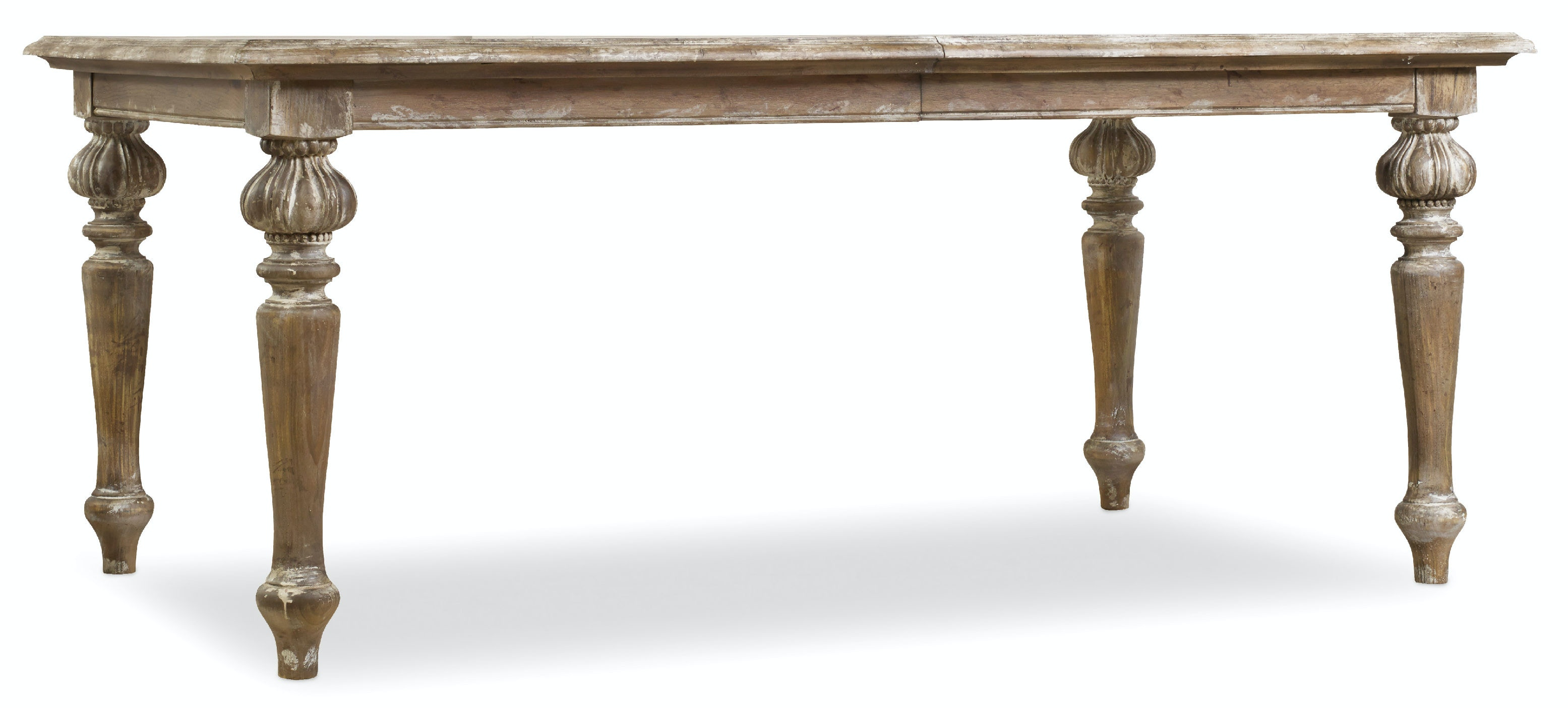 "Hooker Furniture Chatelet Rectangle Leg Dining Table with Two 18"" Leaves 5300-75200"