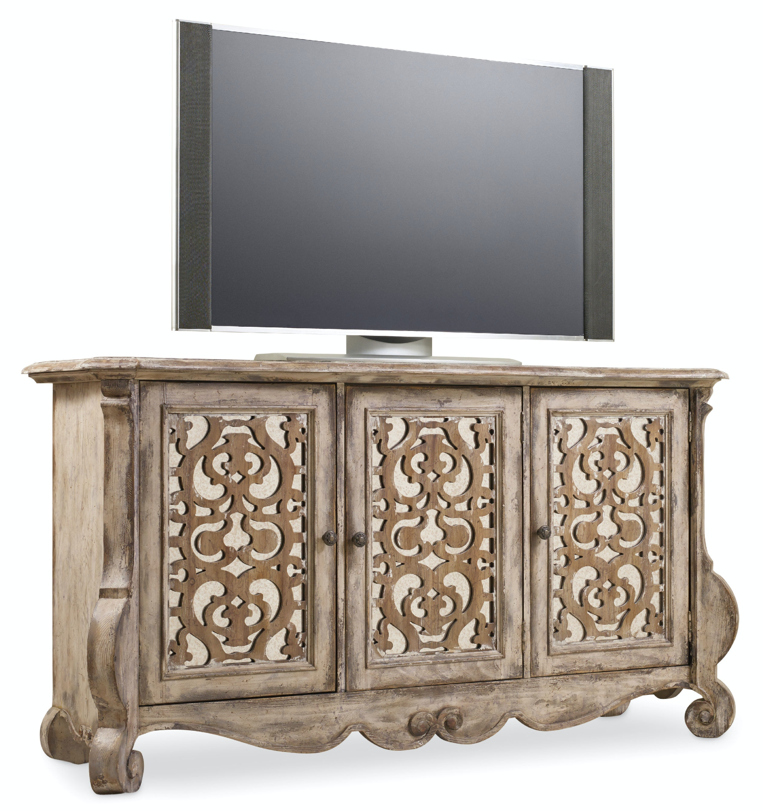 Hooker Furniture Home Entertainment Chatelet Entertainment Console  5351 55468 At Strobler Home Furniture   Strobler Home Furniture   Columbia,  SC