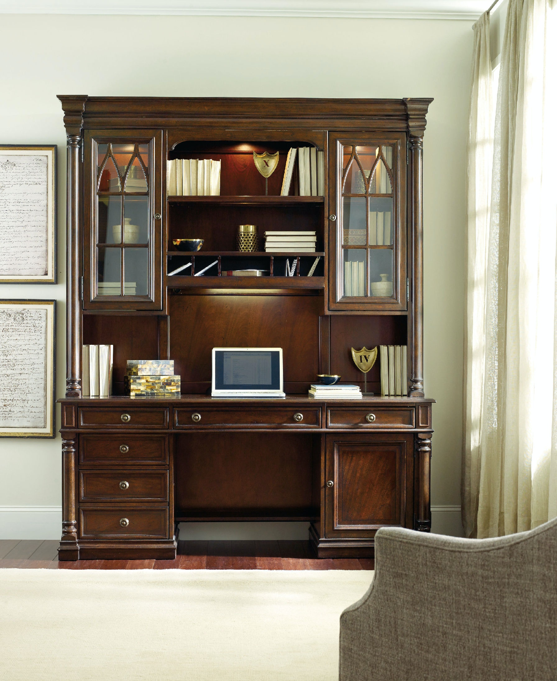 hooker furniture home office leesburg computer credenza 5381 10464 at
