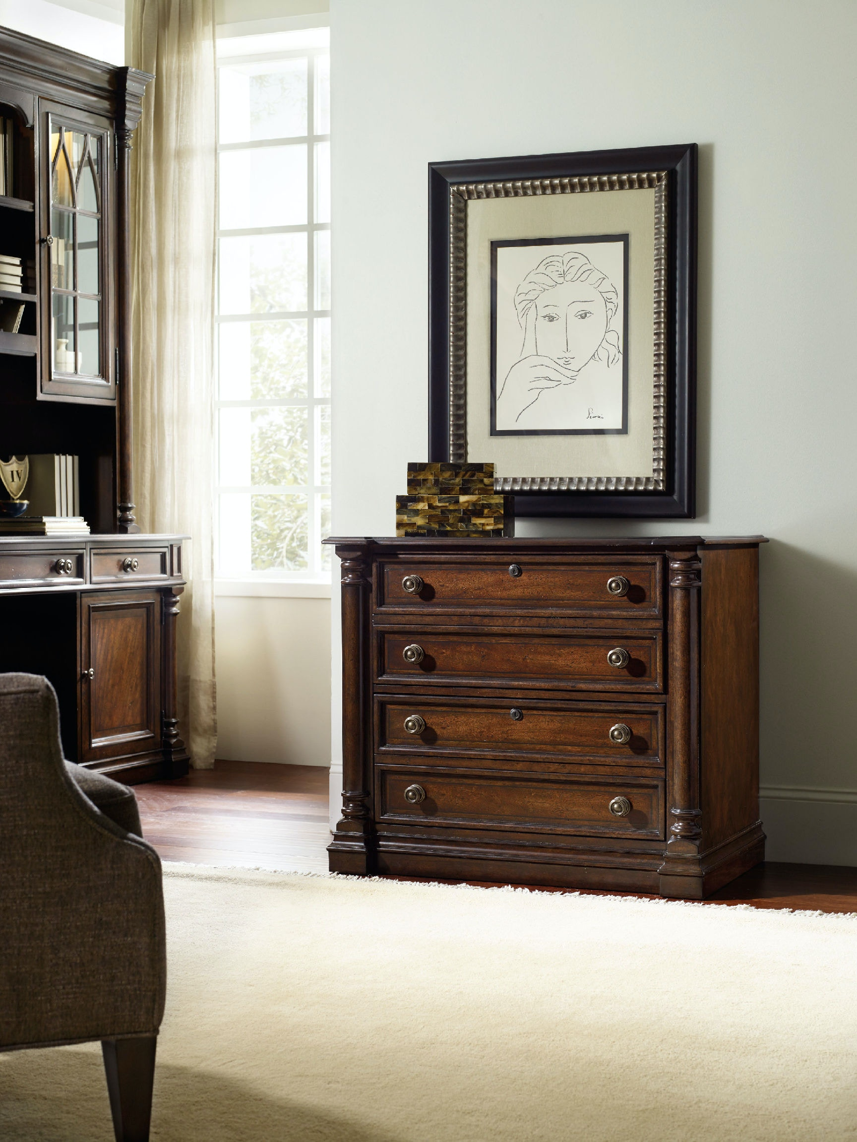 hooker furniture home office leesburg lateral file 5381