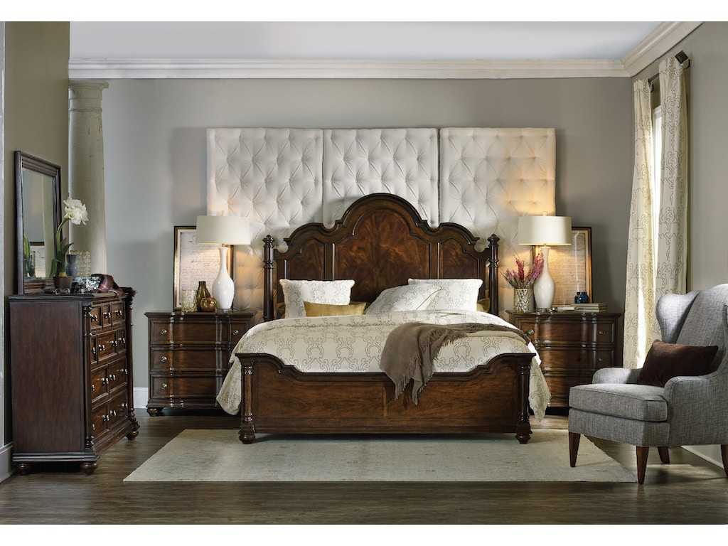 Hooker furniture bedroom leesburg king poster bed 5381 90666 forsey s furniture galleries for Bedroom furniture salt lake city