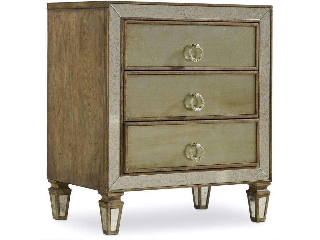 Hooker Furniture Bedroom Sanctuary Nightstand 5414 90016 Hickory Furniture Mart Hickory Nc