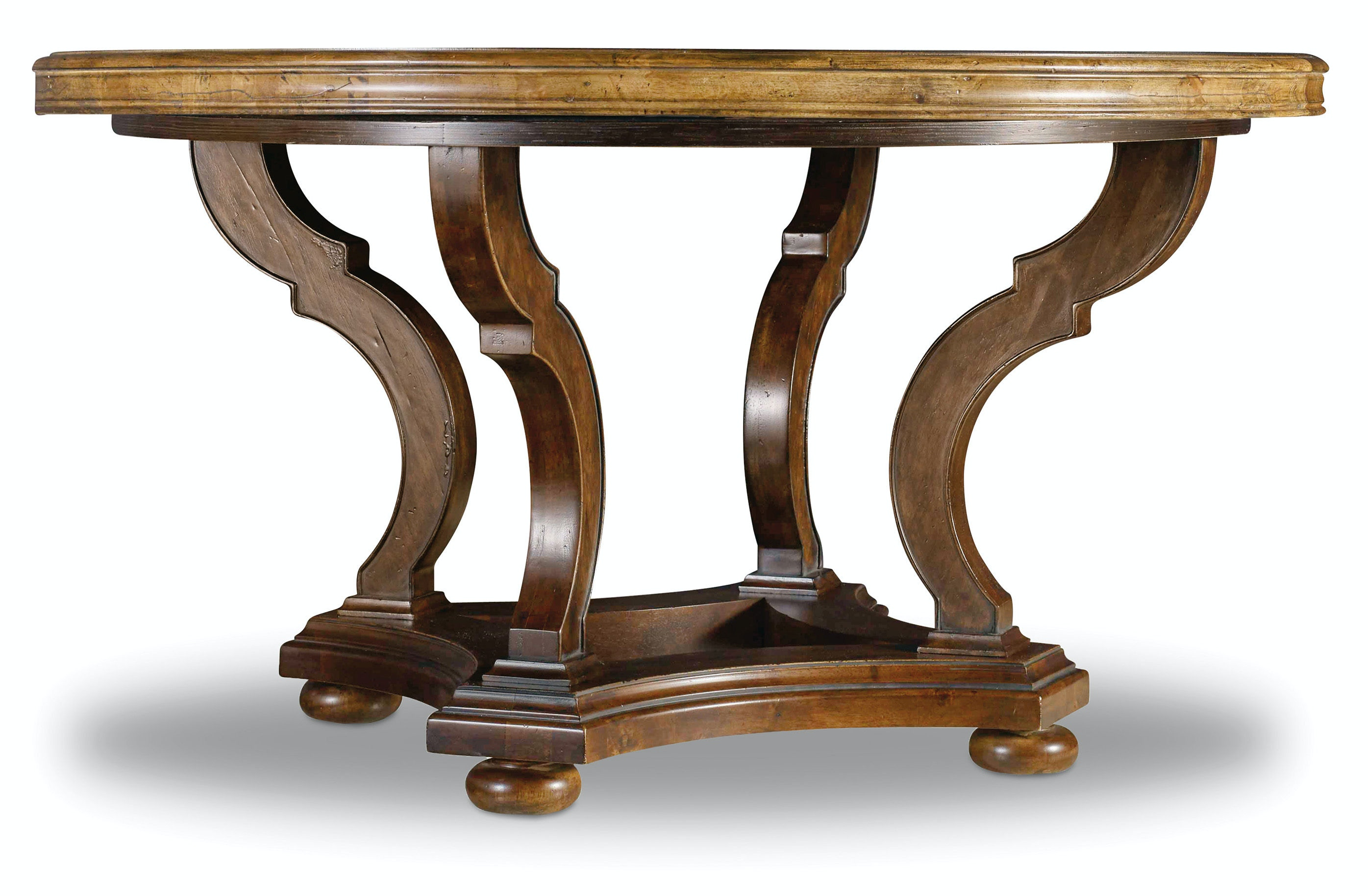 Hooker furniture dining room archivist 54in round dining for Round table with leaf and chairs