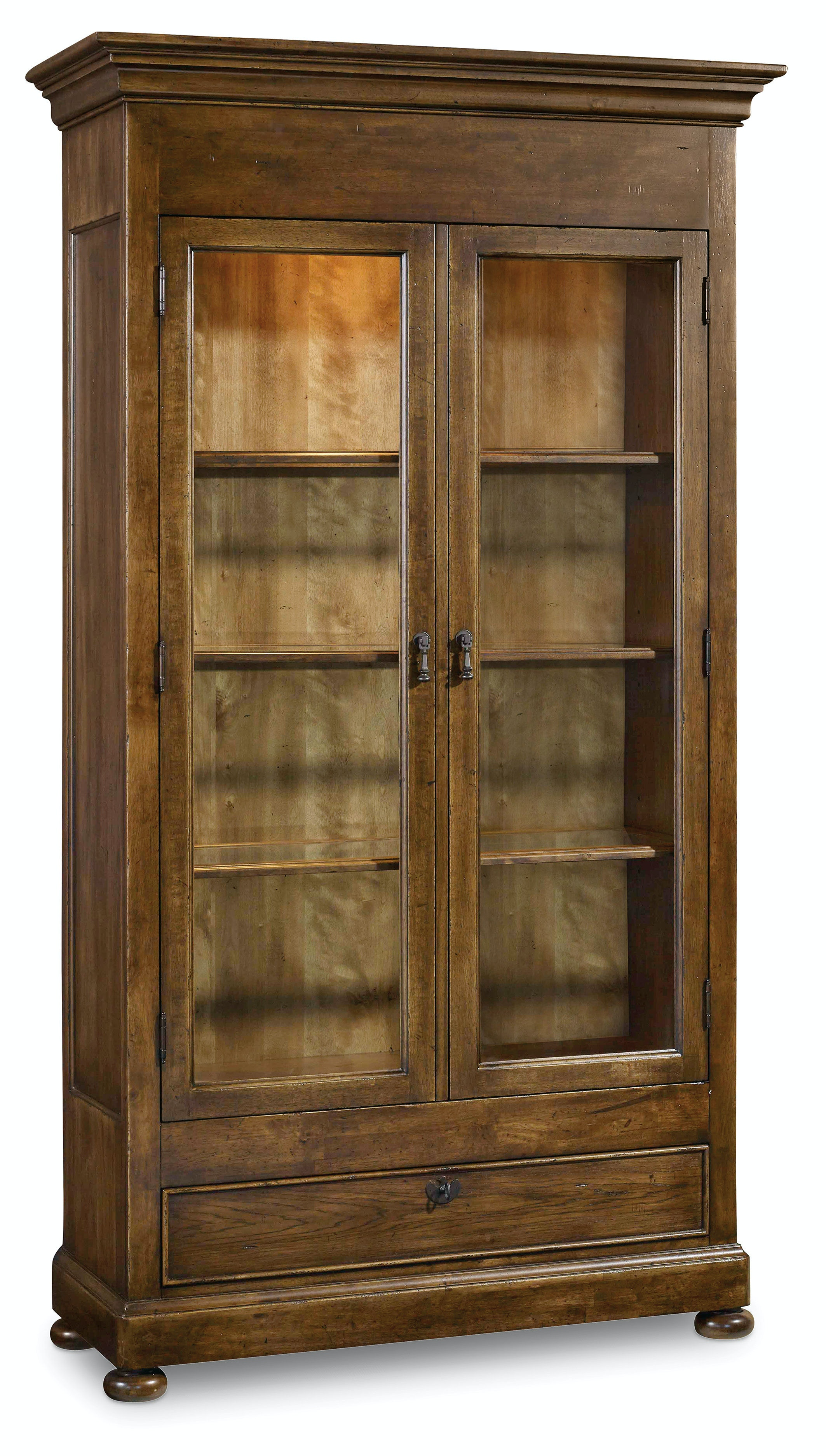 Hooker furniture dining room archivist display cabinet for Dining room display cabinets