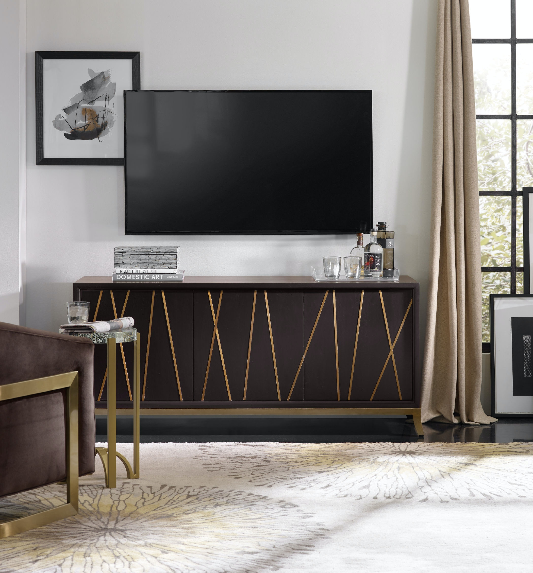 Hooker Furniture Home Entertainment Entertainment Console 64in