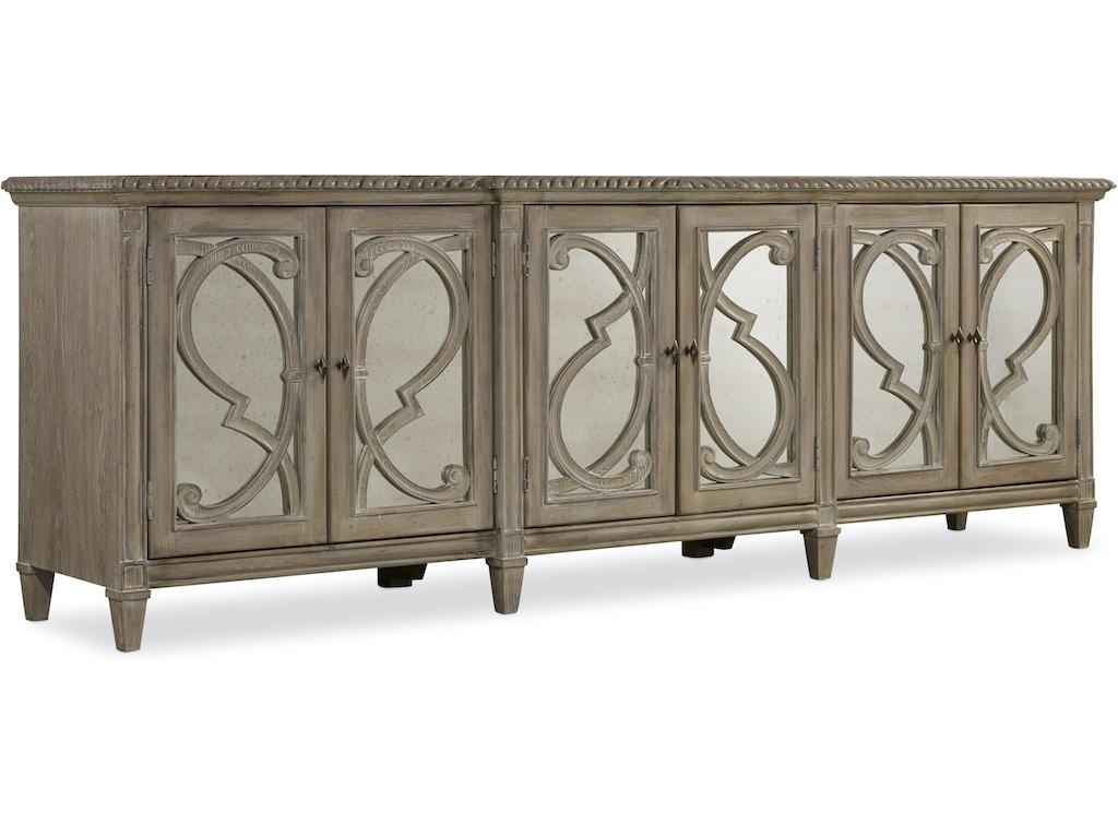 Hooker Furniture Dining Room Solana Six Door Console 5591 85001 Noel Furniture Houston Tx