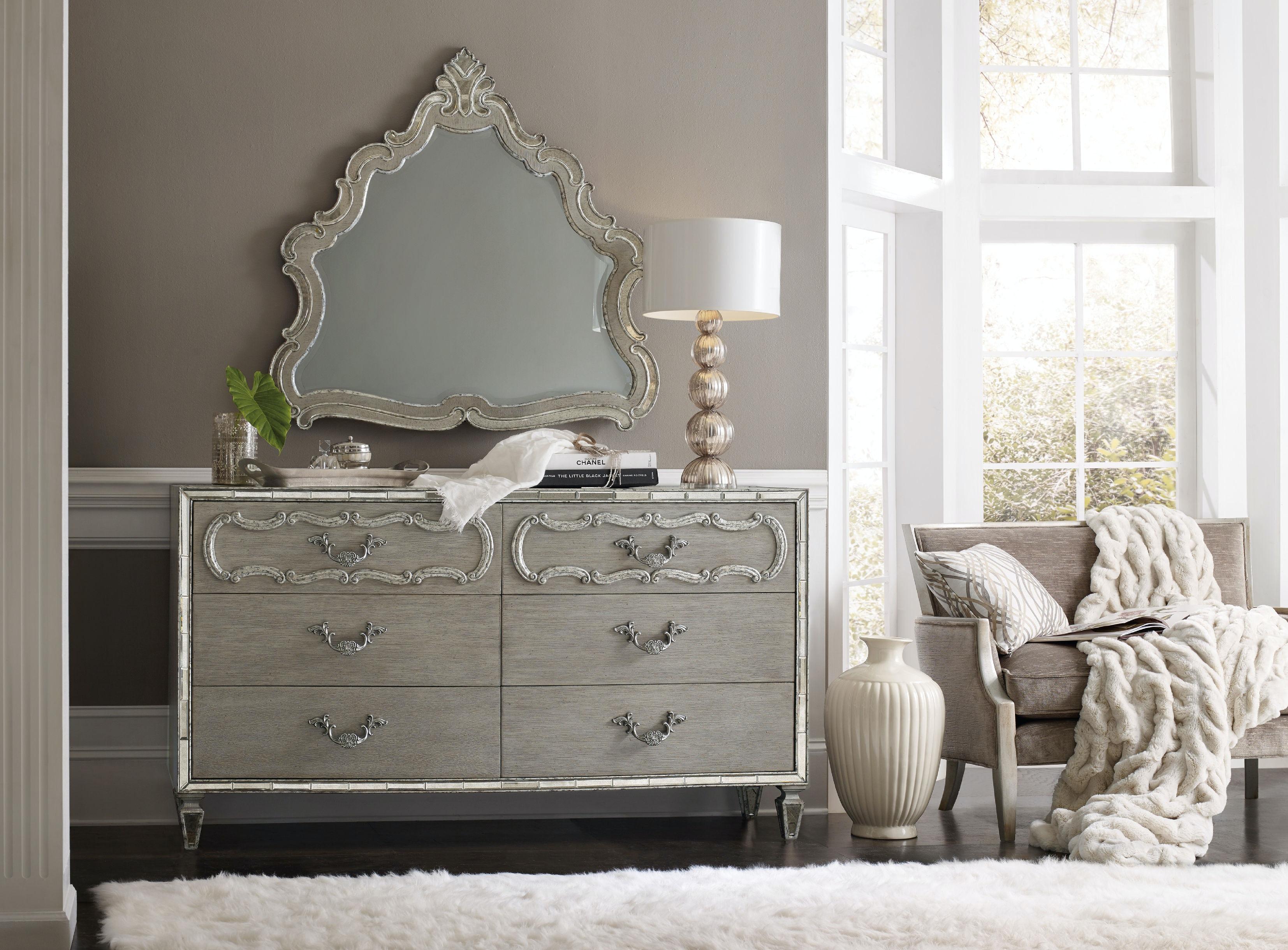 Hooker Furniture Sanctuary Shaped Mirror 5603 90008 LTBR