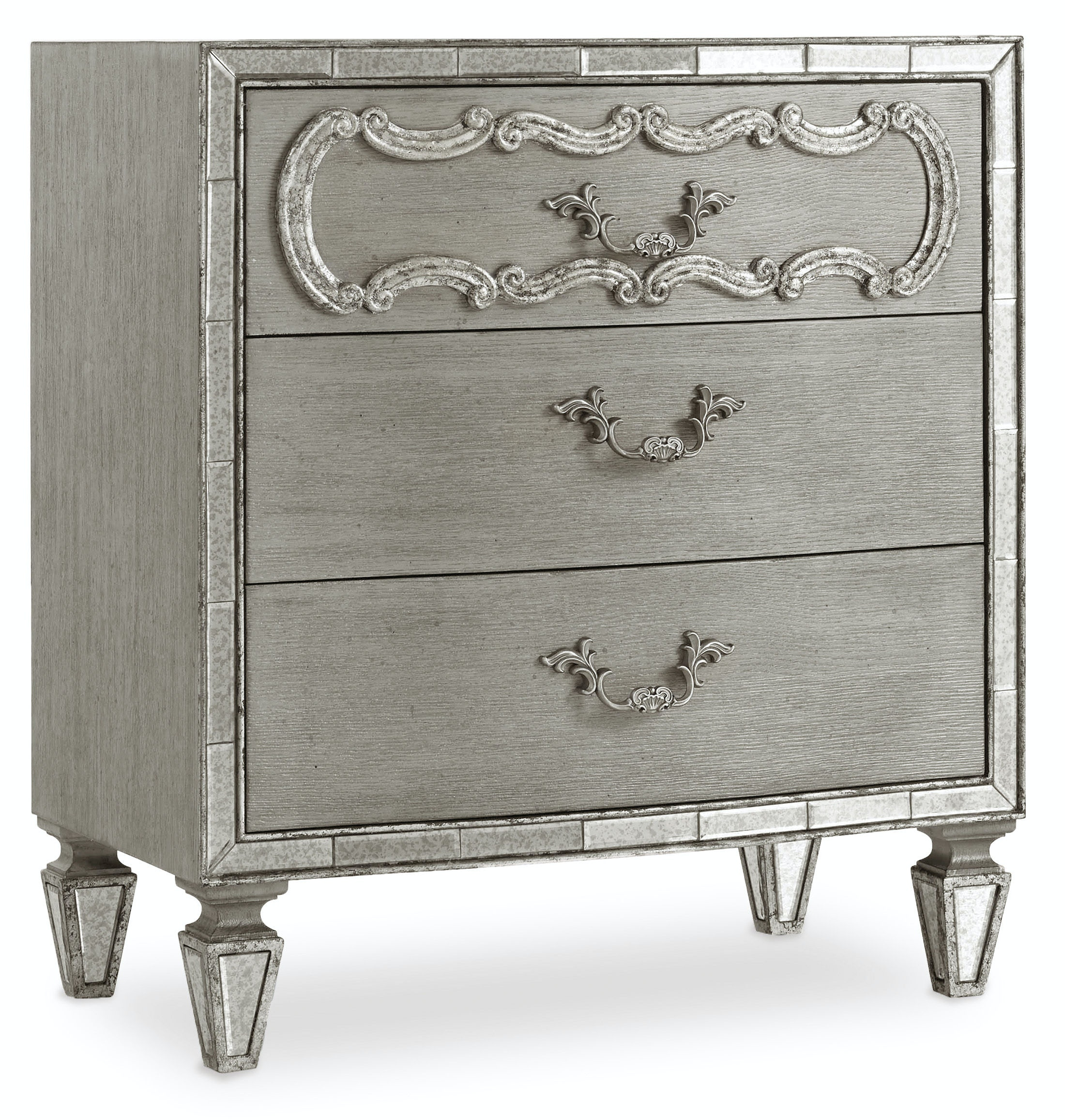 Hooker Furniture Bedroom Sanctuary Three Drawer Nightstand 5603 90016a Ltbr