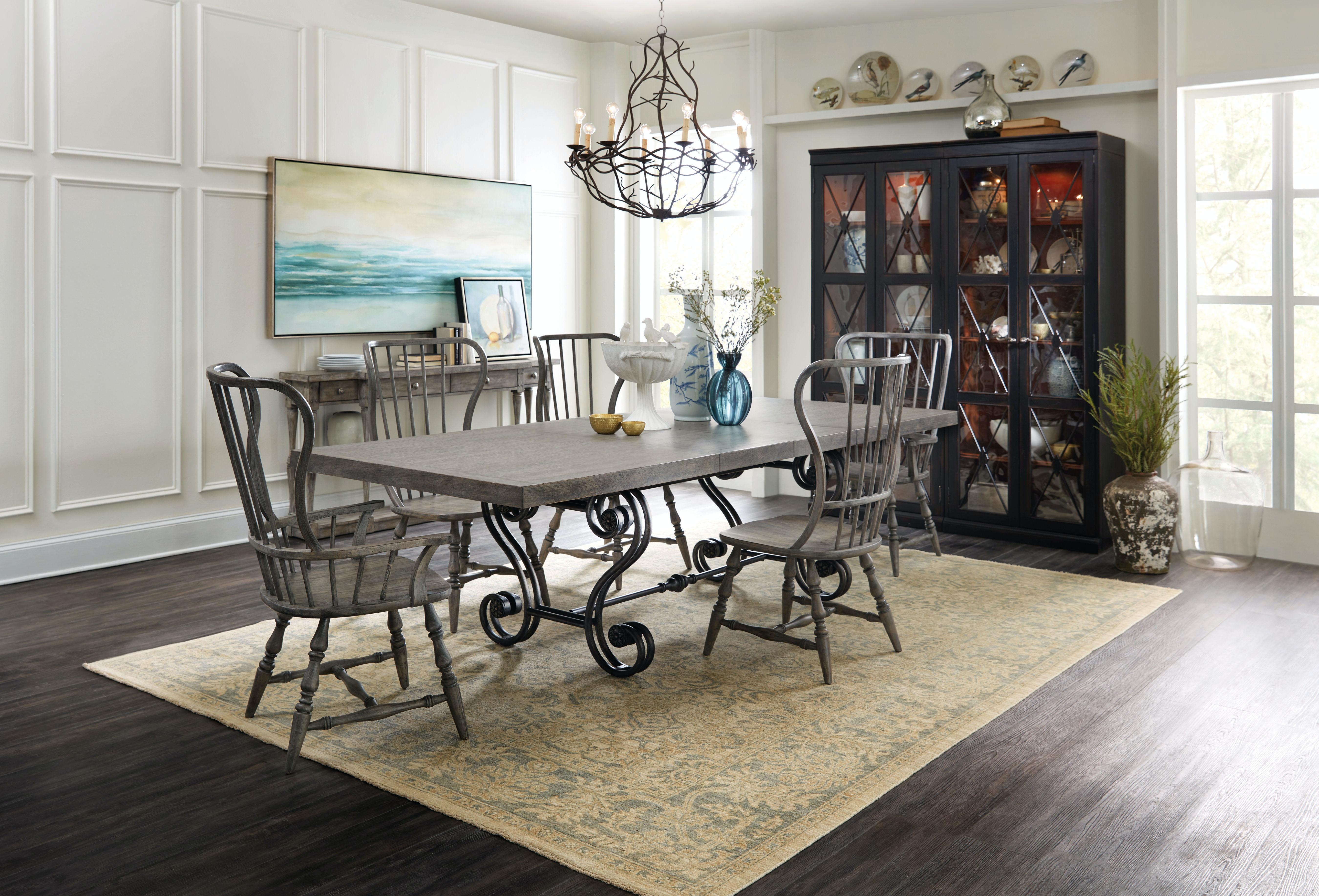 ... Hooker Furniture Sanctuary Two Door Thin Display Cabinet   Ebony  3005 50001