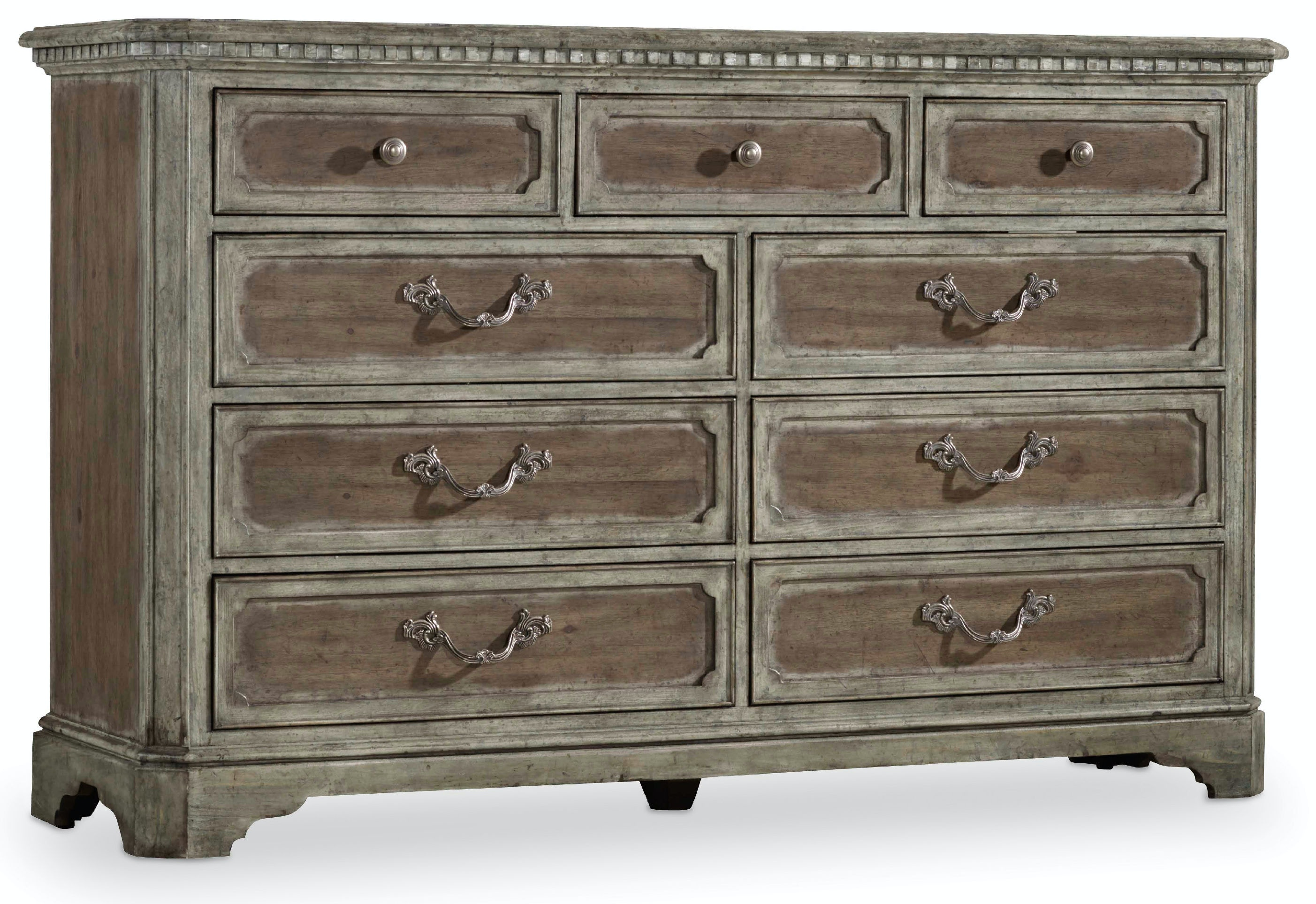 Hooker furniture bedroom true vintage dresser 5701 90002 Antique bedroom dressers and chests