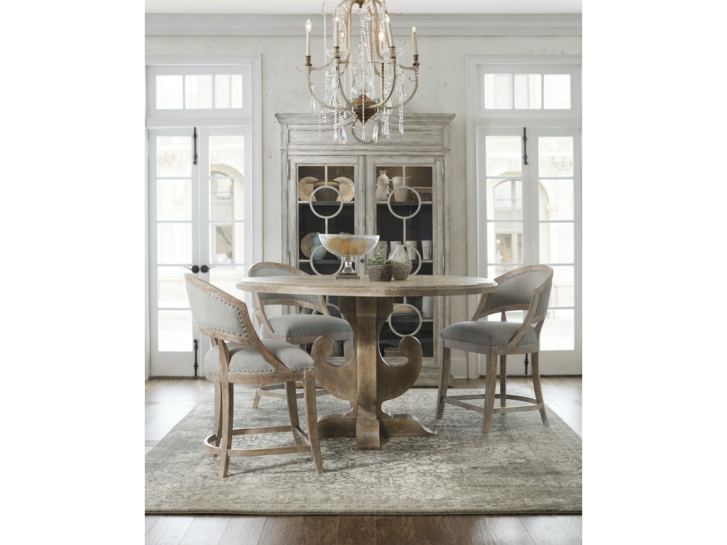 Hooker Furniture Dining Room Boheme Ascension 60in Wood Round Dining Table 5750 75213 Mwd